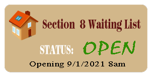 Section 8 Waiting List Status: Closed